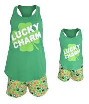Unique Baby Girls St Patrick's Day Lucky Charm Mommy and Me PJ Set
