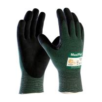 3 Pairs MaxiFlex Cut 34-8743-XS Cut Resistant Nitrile Coated Work Gloves with Green Knit Shell and Premium Nitrile Coated Micro-Foam Grip on Palm & Fingers Size X-Small