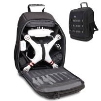 USA Gear FPV Drone Backpack Compatible with DJI Mavic Pro, Phantom 4, 3, Yuneec Breeze and RC Quadcopters - Custom Interior, Thick Padded Protection, Exterior Storage Straps and Waterproof Rain Cover