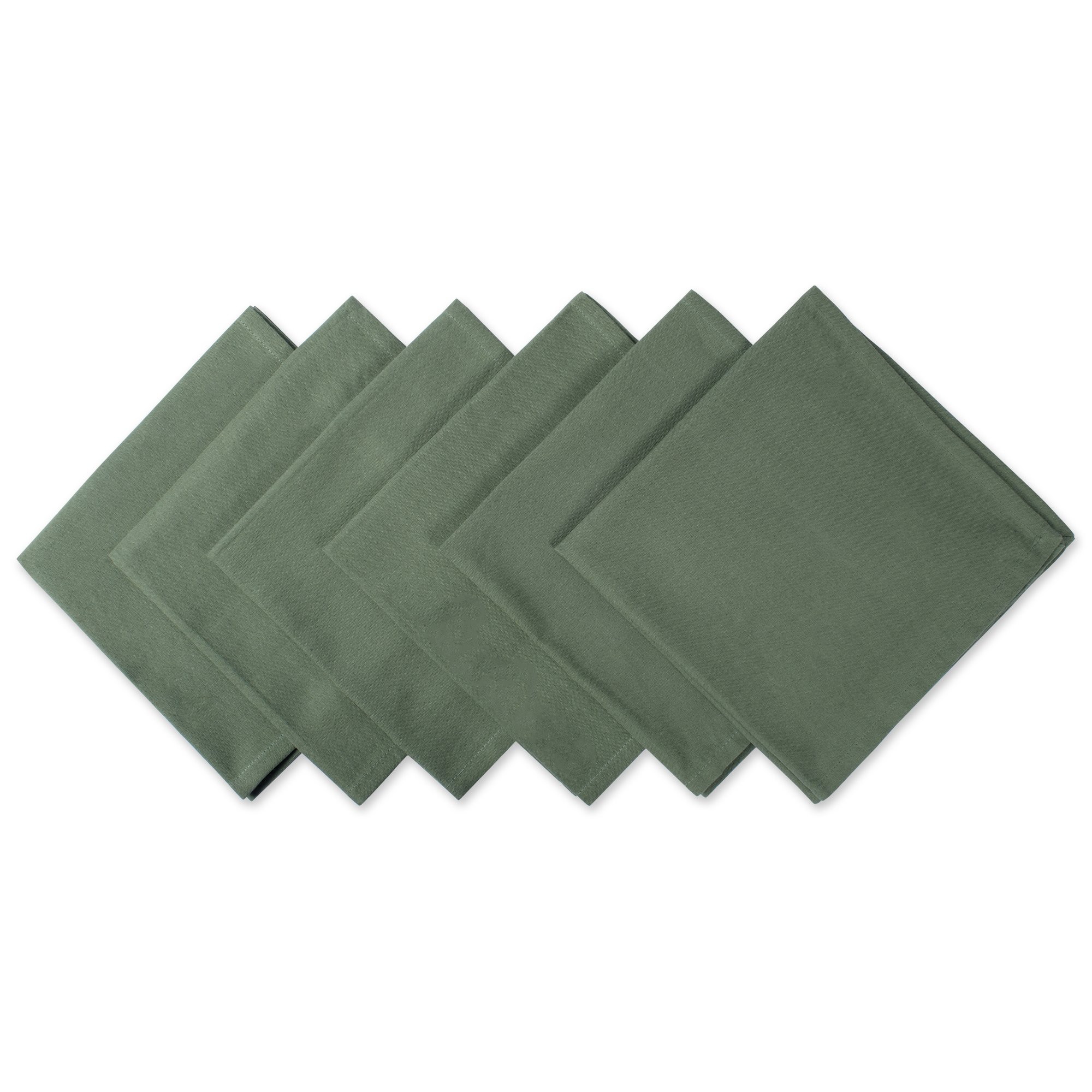 """DII 100% Cotton Cloth Napkins, Oversized 20x20"""" Dinner Napkins, For Basic Everyday Use, Banquets, Weddings, Events, or Family Gatherings - Set of 6, Sage"""