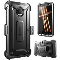 Supcase Full-body Rugged Holster Case for Moto Z Droid,with Built-in Screen Protector (2016 Release, Not Fit Motorola Moto Z Force Droid, Moto Z Play), Unicorn Beetle PRO Series (Black /Black)