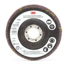 3M Flap Disc 747D, T27, 4-1/2 in x 7/8 in, 60, 10 per case