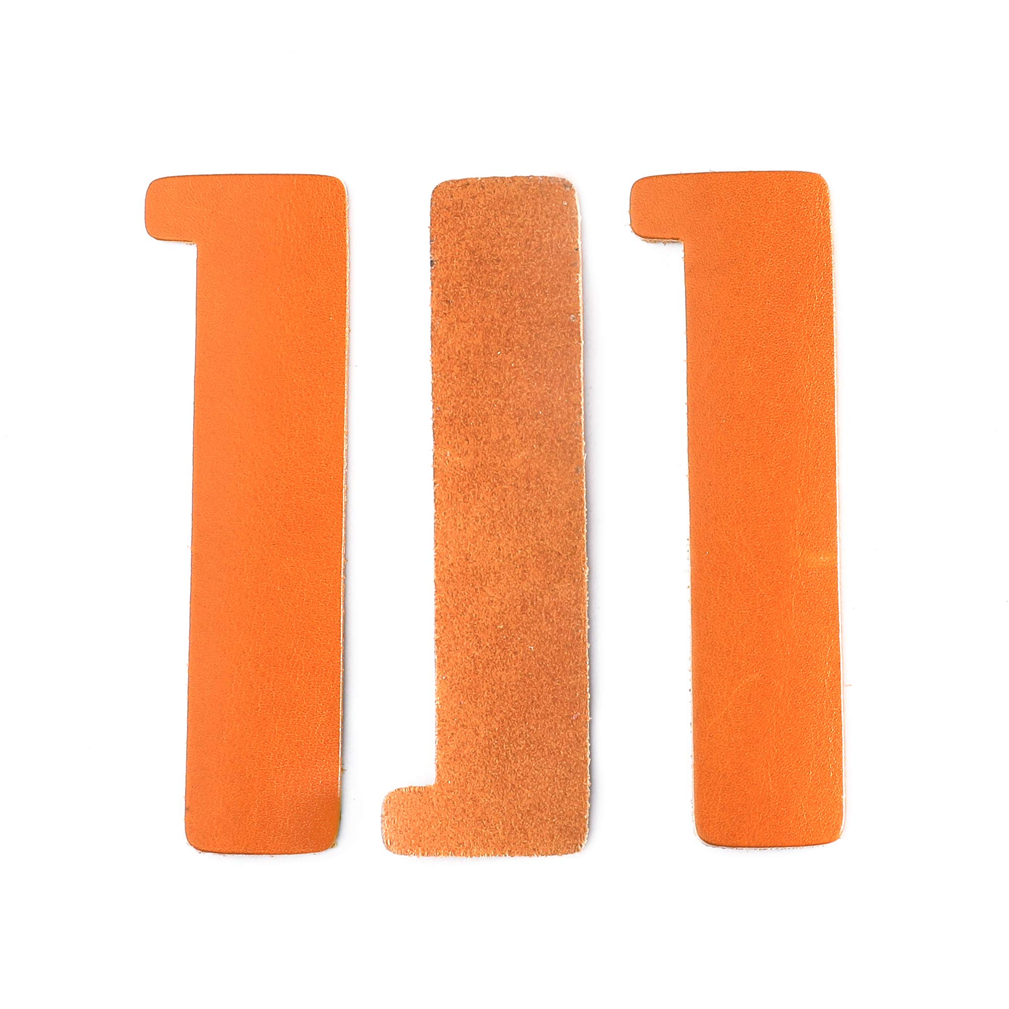 Vantoo Personalized Genuine Leather Bookmarks Corner for Men Women Teen Boys Girls Kids, Handmade Page Markers for Book Reading,Perfect Gift for Reader Writers Poets (Orange 2)