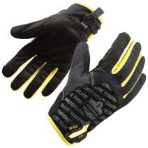 ProFlex 811 Work Glove, High Dexterity, Gripping Palm, Large, Black