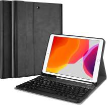 """ProCase New iPad 7th Generation Case with Keyboard, iPad 10.2 2019 Keyboard Case with Pencil Holder,Lightweight Smart Cover with Magnetically Detachable Wireless Keyboard for iPad 7th 10.2"""" –Black"""