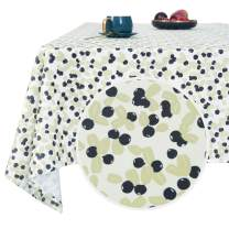 Deconovo Designer Series Original Design Tablecloth Water Resistant Forest Berries Tablecloth Wrinkle Resistant Spillproof Square Tablecloth for Cafe Restaurant 54x54 Inch