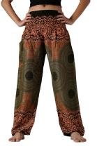 B BANGKOK PANTS Women's Boho Pants Lounge Pant Hippie Clothing Yoga Outfits Bohemian Wear Pajamas Peacock Design