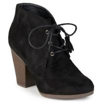 Journee Collection Womens Faux Suede Lace-up Ankle Booties