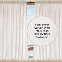 D'Moksha Homes 100% Pure Hemp Semi Sheer Curtain - 52x84 inch. Versus Cotton, Polyester or Linen Our Hemp Curtains are UV Rays Protective and Eco-Friendly. Handmade. 2 Hang Styles. 1 Panel Per Box