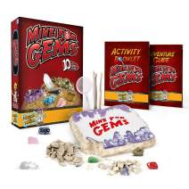 Discover with Dr. Cool Mine for Gems - Dig Out 10 Real Gemstone Treasures!