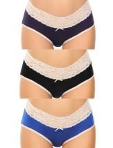 Ekouaer 3 Pcs Sexy Underwear, Portal Women Under The Bump Maternity Panties