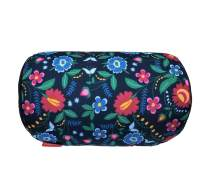 """Bookishbunny Home Office Chair Car Seat Cushion Micro Bead Roll Pillow 7"""" x 12"""" Head Neck Back Body Comfort (Flowers)"""