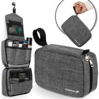 Fosmon Hanging Travel Toiletry Bag, Compact Toiletries Organizer, Cosmetic Makeup Portable Bag, Shower Bathroom Shaving kit, Hygiene Water-Resistant Carrying Travel Accessories for Men and Women