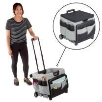 "ECR4Kids MemoryStor Universal Rolling Cart and Organizer Bag Set, Black/Gray, Black/gray, 17.50"" x 15.75"" x 16.50"" (763960528426)"