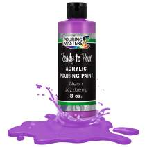 Pouring Masters Neon Jazzberry Acrylic Ready to Pour Pouring Paint – Premium 8-Ounce Pre-Mixed Water-Based - for Canvas, Wood, Paper, Crafts, Tile, Rocks and More
