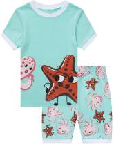 Little Girls Pajamas Children Christmas Pjs Kids Cotton Sleepwear Set