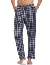 Hawiton Men's Cotton Pajama Pants Long Sleep Jersey Lounge Sleepwear Bottoms