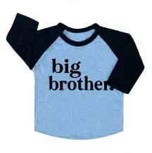 Big Brother & Little Brother Sibling Reveal Announcement T-Shirt for Boys Toddler Baby