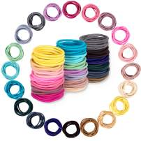 Whaline 200PCS Baby Hair Tie, Multicolor 2mm Hair Bands No Crease Hair Elastics Small Ponytail Holders Hair Accessories for Kids Girls Infants Toddlers