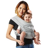 Baby K'tan Original Baby Wrap Carrier, Infant and Child Sling - Simple Wrap Holder for Babywearing, Heather Grey, Women 2-4 (X-Small), Men up to 36, No Rings or Buckles - Carry Newborn up to 35 lbs