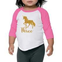 Unicorn Shirt Third Birthday Outfit Girl Unicorn Birthday Shirt