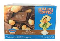 Kauai Coffee Single Serve Pods, Mocha Macadamia Nut - 100% Premium Arabica Coffee from Hawaii's Largest Coffee Grower, Keurig-Compatible Cups (12 Count)