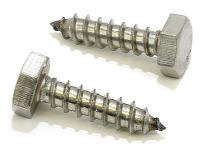 """1/4"""" X 1"""" Stainless Hex Lag Bolt Screws, (25 Pack) 304 (18-8) Stainless Steel, by Bolt Dropper"""