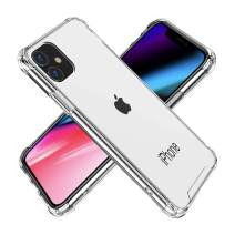 BAISRKE iPhone 11 Case, Slim Shock Absorption Protective Cases Soft TPU Bumper & Hard Plastic Back Cover for iPhone 11 6.1 inch [2019] - Transparent Clear