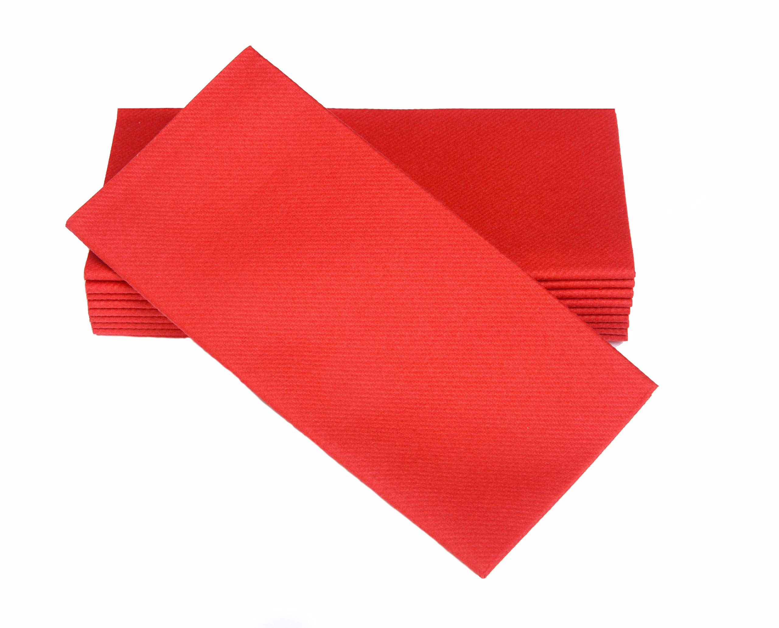 """Simulinen Colored Napkins - Decorative Cloth Like & Disposable, Dinner Napkins - RED - Soft, Absorbent & Durable - 16""""x16"""" - Great for Any Occasion! - Box of 50"""