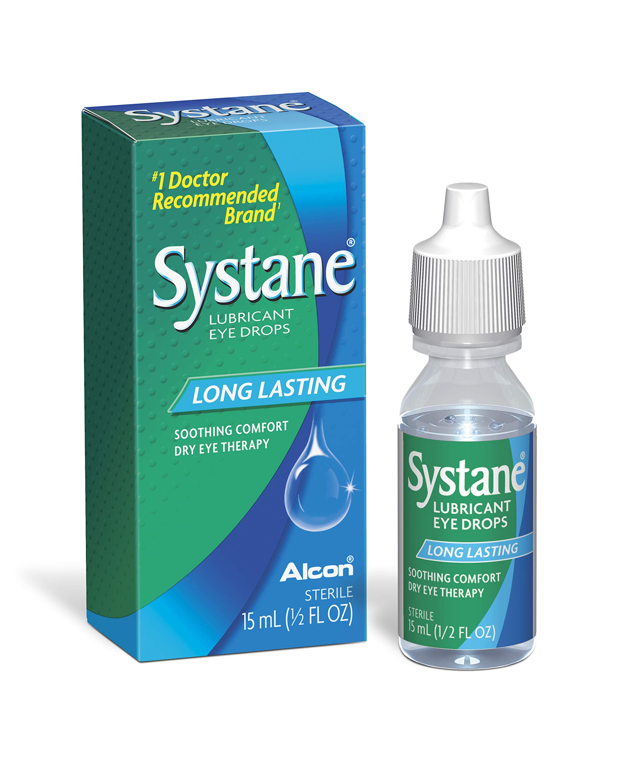 Systane Long Lasting Lubricant Eye Drops, 0.5 Fl Oz (Pack of 1)