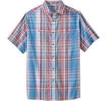 KingSize Men's Big & Tall Short-Sleeve Plaid Sport Shirt