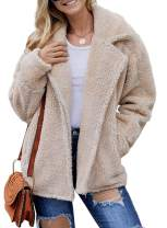 Dearlovers Womens Faux Shearling Warm Winter Outwear Oversized Coat Jacket with Pockets