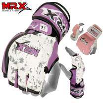 MRX BOXING & FITNESS MMA Ladies Grappling Training Gloves Cage Women Fighting Sparring Gloves Purple