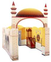 My Portable Cardboard Playhouse Masjid for Muslim Kids-Educational Interactive Toy for Learning Praying,Quran Book,Pray and Islam-Teach Salah with Prayer Mat/Rug/Carpet-Best Islamic Gift for Children