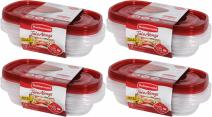 Rubbermaid TakeAlongs Rectangle Containers, 4-Cup (4-Pack of 3)