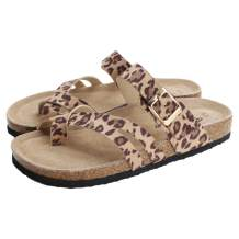 PepStep Slide Sandals for Women with Soft Cork Footbed and Strap, Ladies Fashion Platform Slide Sandals Comfortable Slip On Style