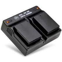 BM Premium Pack of 2 LP-E10 Batteries and USB Dual Battery Charger Kit for Canon EOS Rebel T3, T5, T6, T7, Kiss X50, Kiss X70, EOS 1100D, EOS 1200D, EOS 1300D, EOS 2000D Digital Cameras
