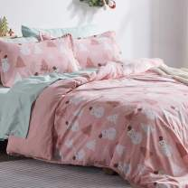 SLEEP ZONE Kids Printed Duvet Cover Set 2 Pieces Ultra Soft Brushed Microfiber with 1 Sham Easy Care Zipper Ties, Pink Snowman, Twin