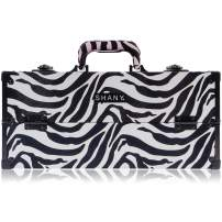 SHANY Modern Pro Cosmetics Train Case - Makeup organizer with Brush Holder and Lock - Mountain Zebra
