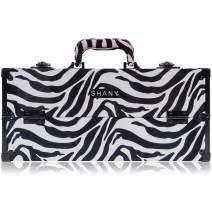 SHANY Modern Pro Cosmetics Train Case - Makeup organizer with Brush Holder and Lock - Mountain Zebra