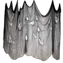 """FATHER.SON Halloween Creepy Cloth Decoration Halloween Party Decorations.(6.8ft x 315"""" Black)"""