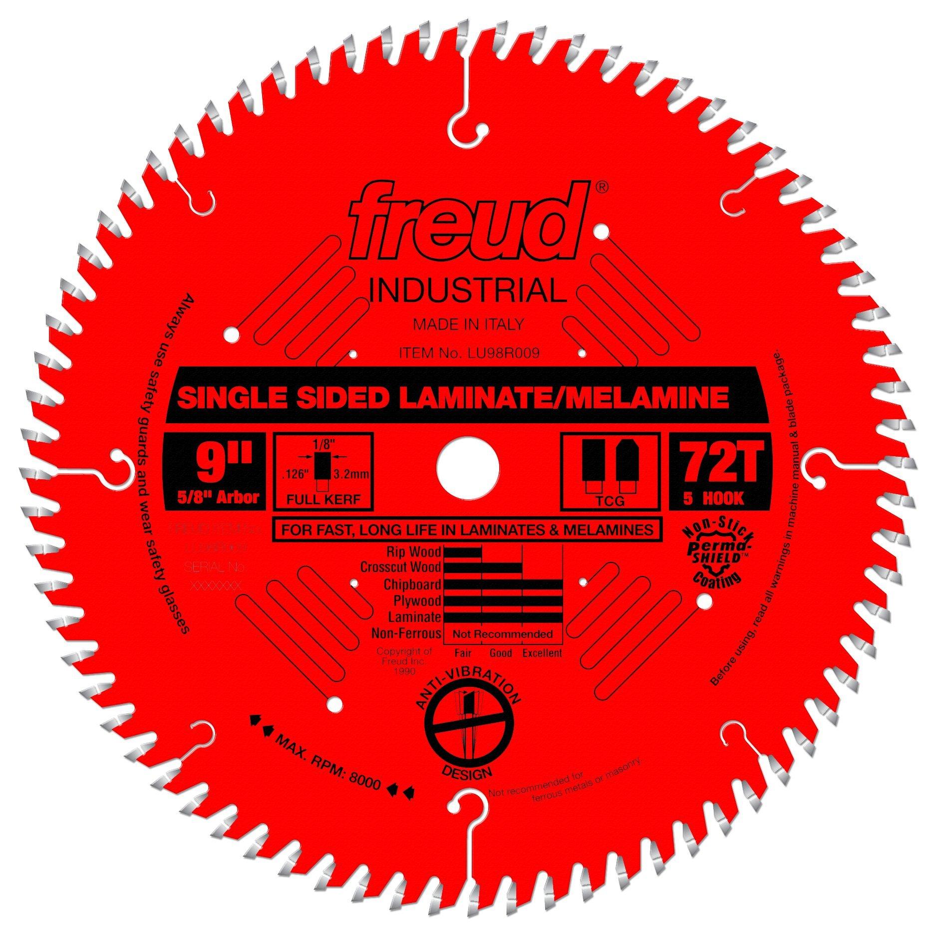 "Freud 9"" x 72T Single Sided Laminate/Melamine Blade (LU98R009)"