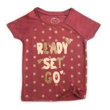 kidstudio Girls Tshirt for Kids Short Sleeve Tops Graphic Printed Round Neck Tee, 1-7 Years