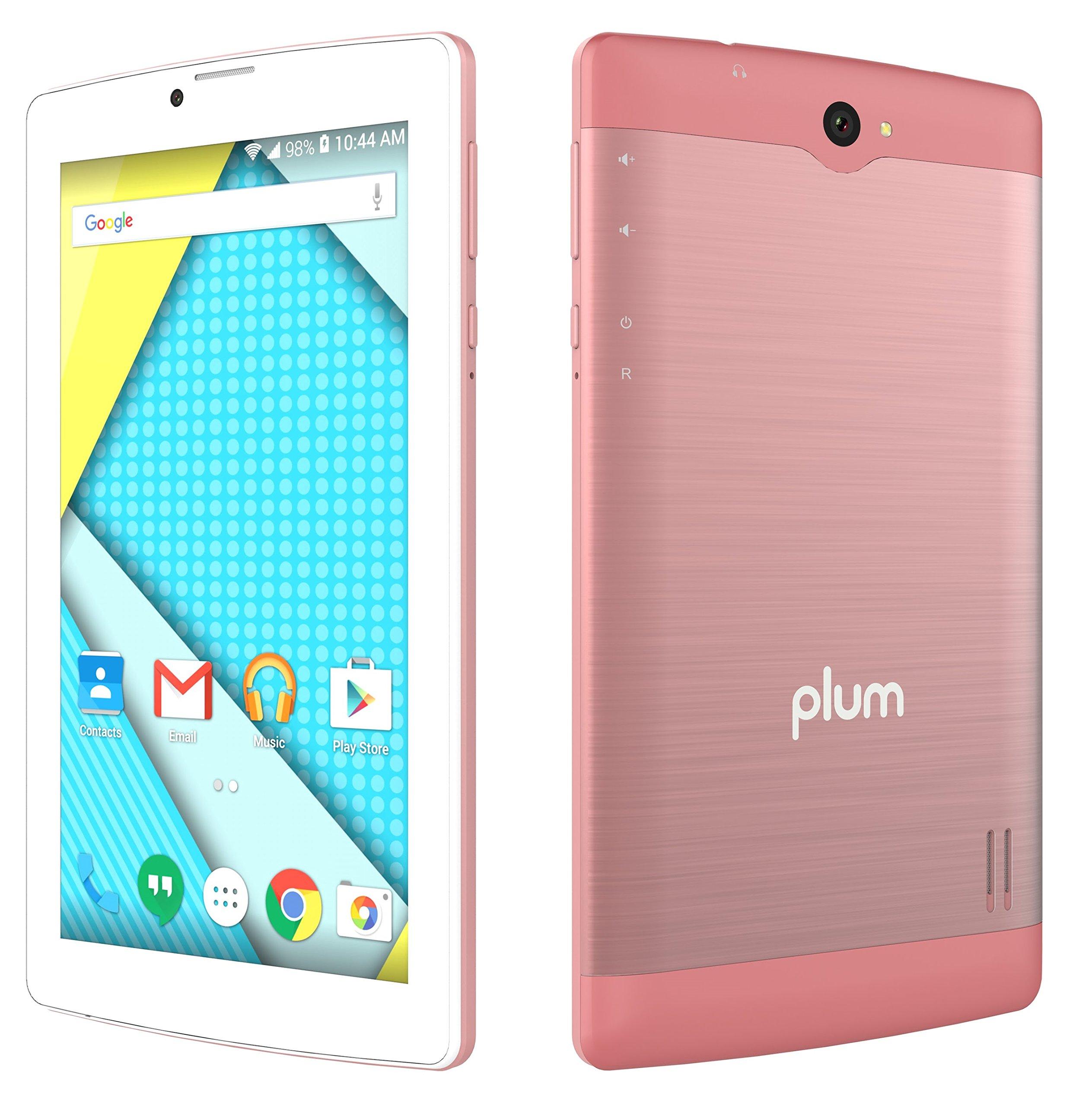 "Plum Optimax 12 - Tablet Phone Phablet 4G GSM Unlocked 7"" Display Android Dual Camera ATT Tmobile Metro Cricket Mint Straight Talk"
