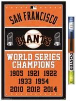 "Trends International Poster Clip MLB San Francisco Giants - Champions, 22.375"" x 34"", Poster & Clip Bundle"