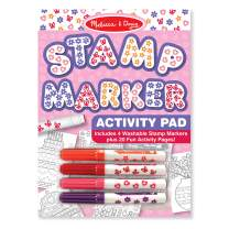Melissa & Doug Stamp Marker Activity Pad - Butterflies, Hearts, Flowers, and Stars (Great Gift for Girls and Boys - Best for 4, 5, 6, 7, 8 Year Olds and Up)