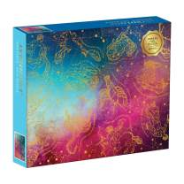 Galison Astrology 1000 Piece Jigsaw Puzzle for Adults, Foil Puzzle with Astrological Star Signs