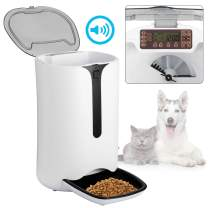 Automatic Pet Cat Dog Feeder Auto Pet Feeder Food Dispenser with Timer, Voice Recorder, Distribution Alarms