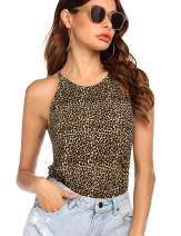 Hotouch Women's Halter Tops Sleeveless Blouse Summer Shirts Casual Cami Tank Top