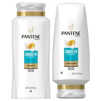 Pantene, Shampoo and Sulfate Free Conditioner Kit, with Argan Oil, Pro-V Smooth and Sleek for Dry Hair, 25.4 oz and 24 oz, Kit